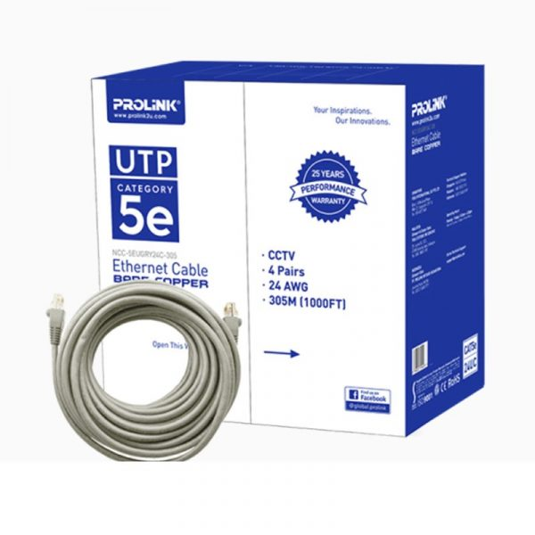 PROLINK - UTP Lan Cable Bare Cooper (Gry) CAT5e 24UC