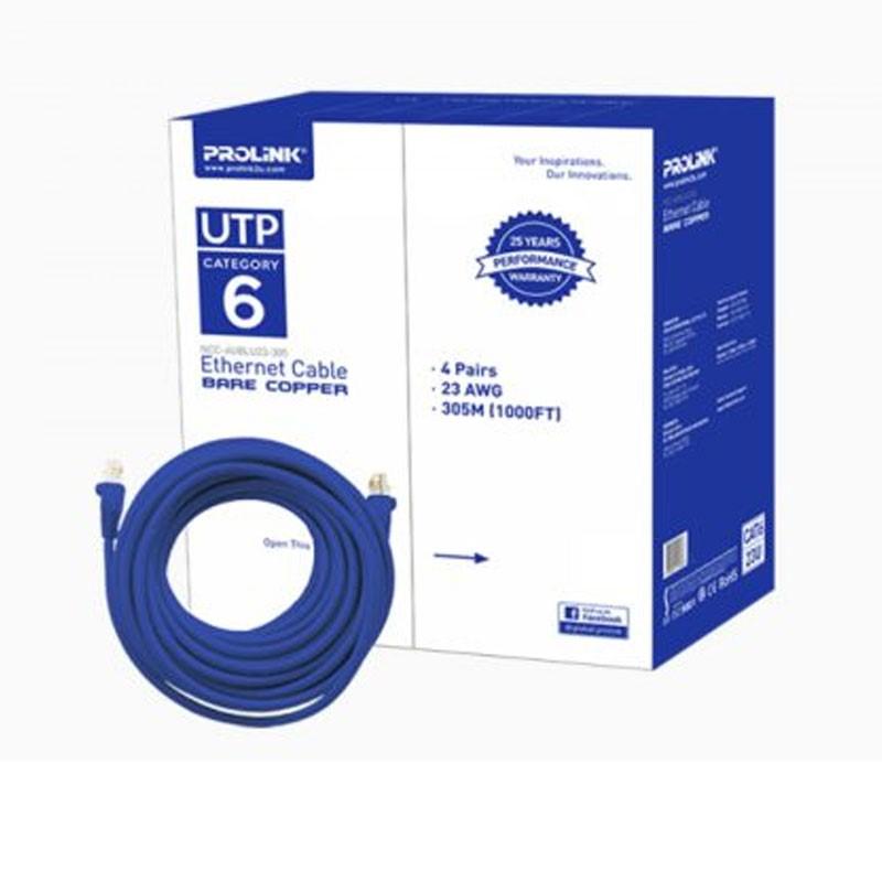 PROLINK - UTP Lan Cable Bare Cooper (Blu) CAT6 23U