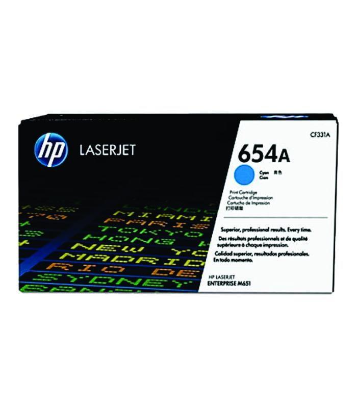 HP - 654A Cyan LaserJet Toner Cartridge [CF331A]