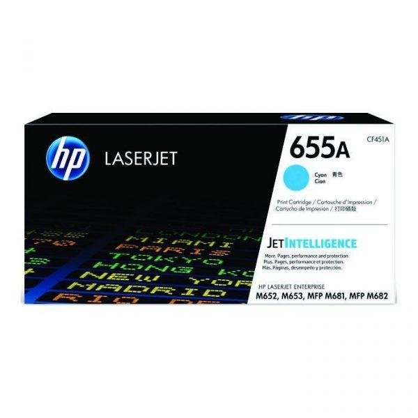 HP - 655A Cyan LaserJet Toner Cartridge [CF451A]