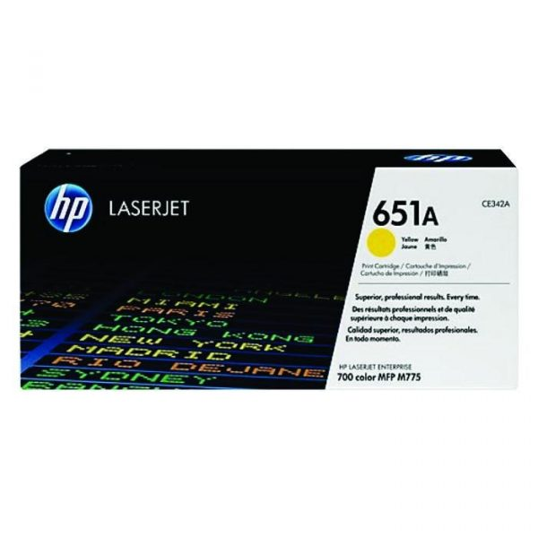 HP - LaserJet 700 Color MFP 775 Ylw Cartridge [CE342A]