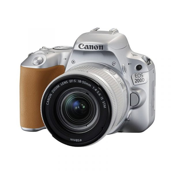 CANON - Digital EOS 200D lens 18-55mm Silver