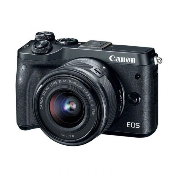 CANON - EOS M6 Mirrorless Digital 15-45mm Lens (Black)