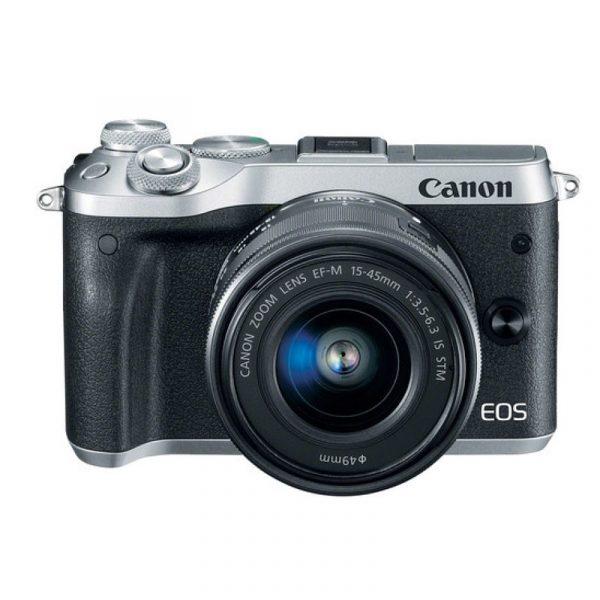 CANON - EOS M6 Mirrorless Digital 15-45mm Lens (Silver)