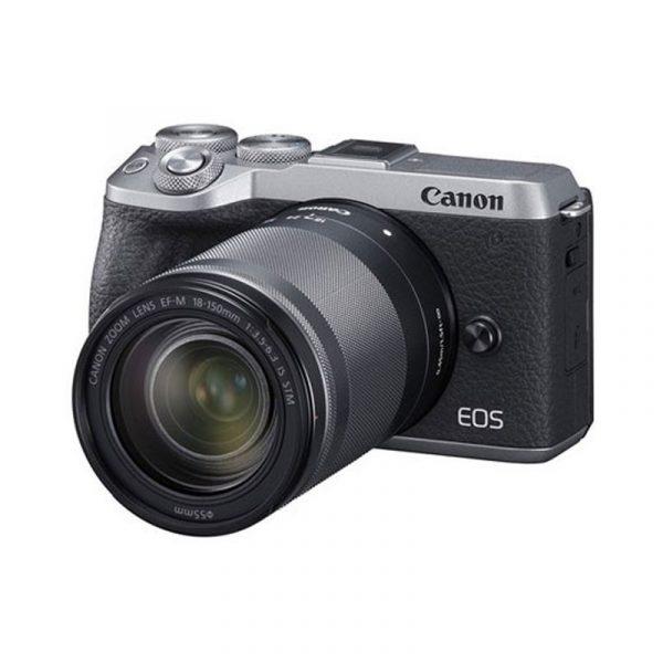 CANON - EOS M6 Mirrorless Digital 18-150mm Lens (Silver)
