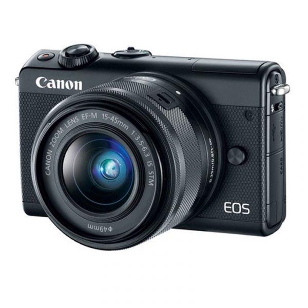 CANON - EOS M100 Mirrorless Digital 15-45mm Lens (Black)