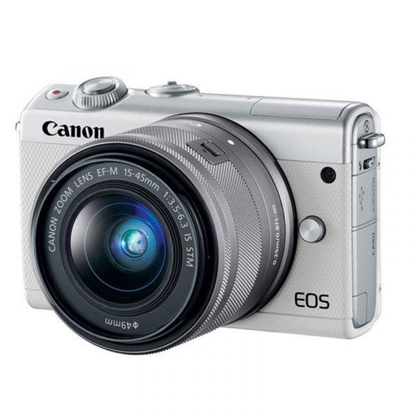 CANON - EOS M100 Mirrorless Digital 15-45mm Lens (White)