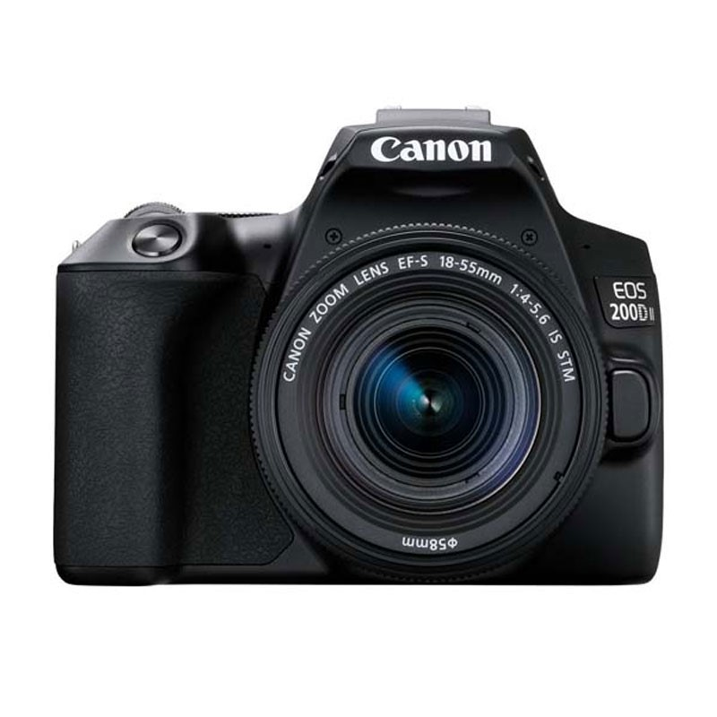 CANON - Digital EOS 200D II lens 18-55mm Black