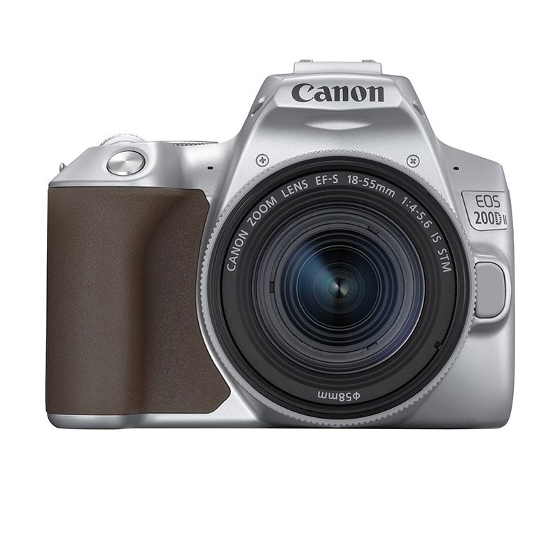 CANON - Digital EOS 200D II lens 18-55mm Silver