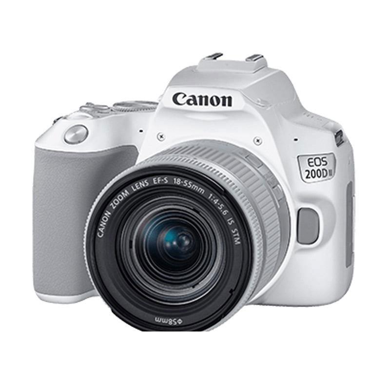 CANON - Digital EOS 200D II lens 18-55mm White