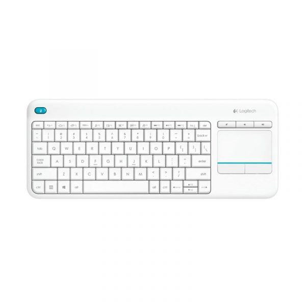LOGITECH - K400 Plus Wireless Touch Keyboard White AP