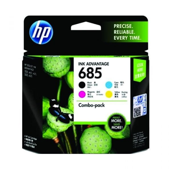 HP - 685 CMYK Ink Cartridge Combo 4-Pack [F6V35AA]