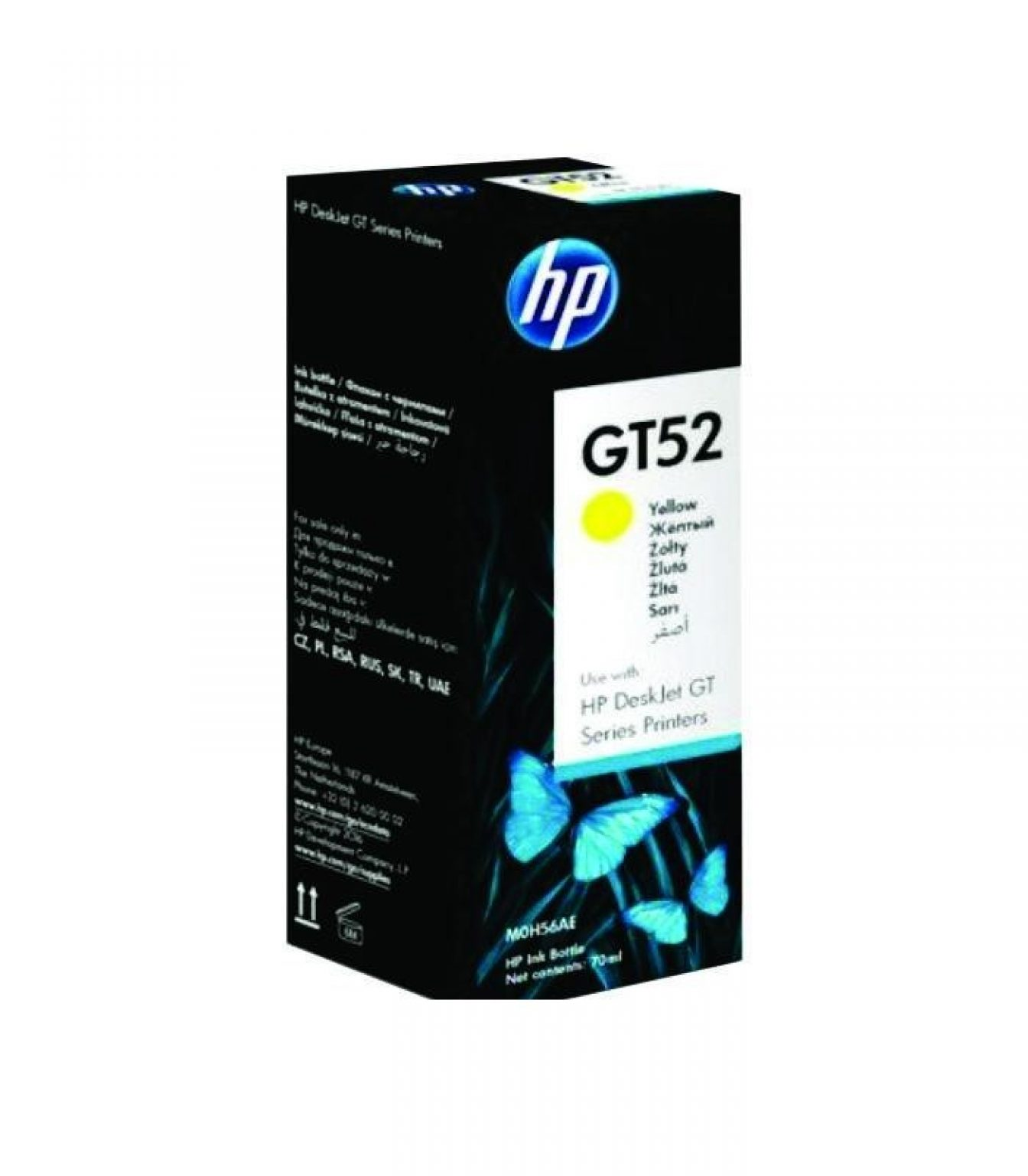 HP - GT52 Yellow Original Ink Bottle [M0H56AA]