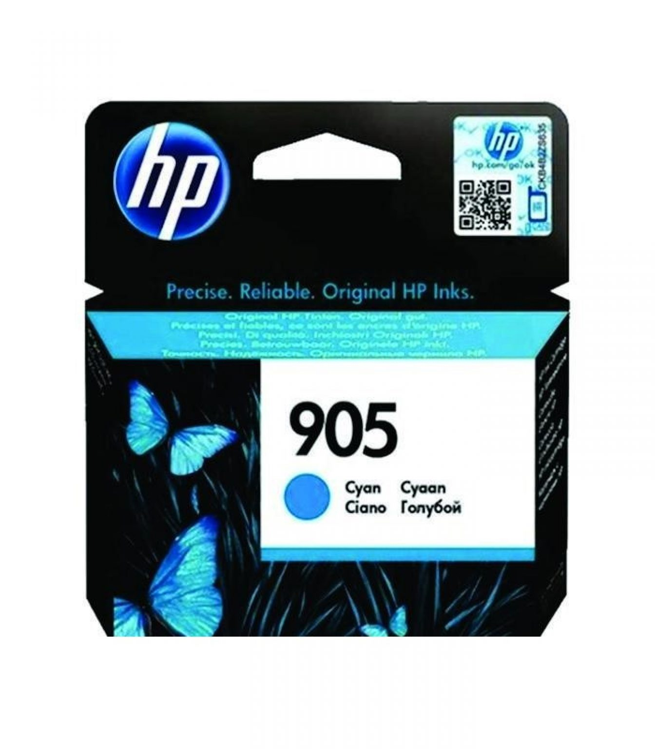 HP - 905 Cyan Original Ink Cartridge [T6L89AA]