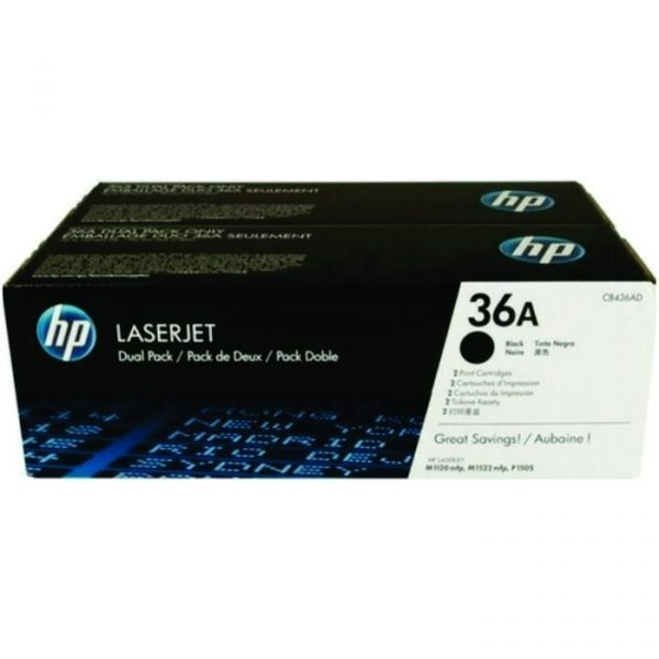 HP - LaserJet P1505 Black Cartridge Dual Pack [CB436AD]