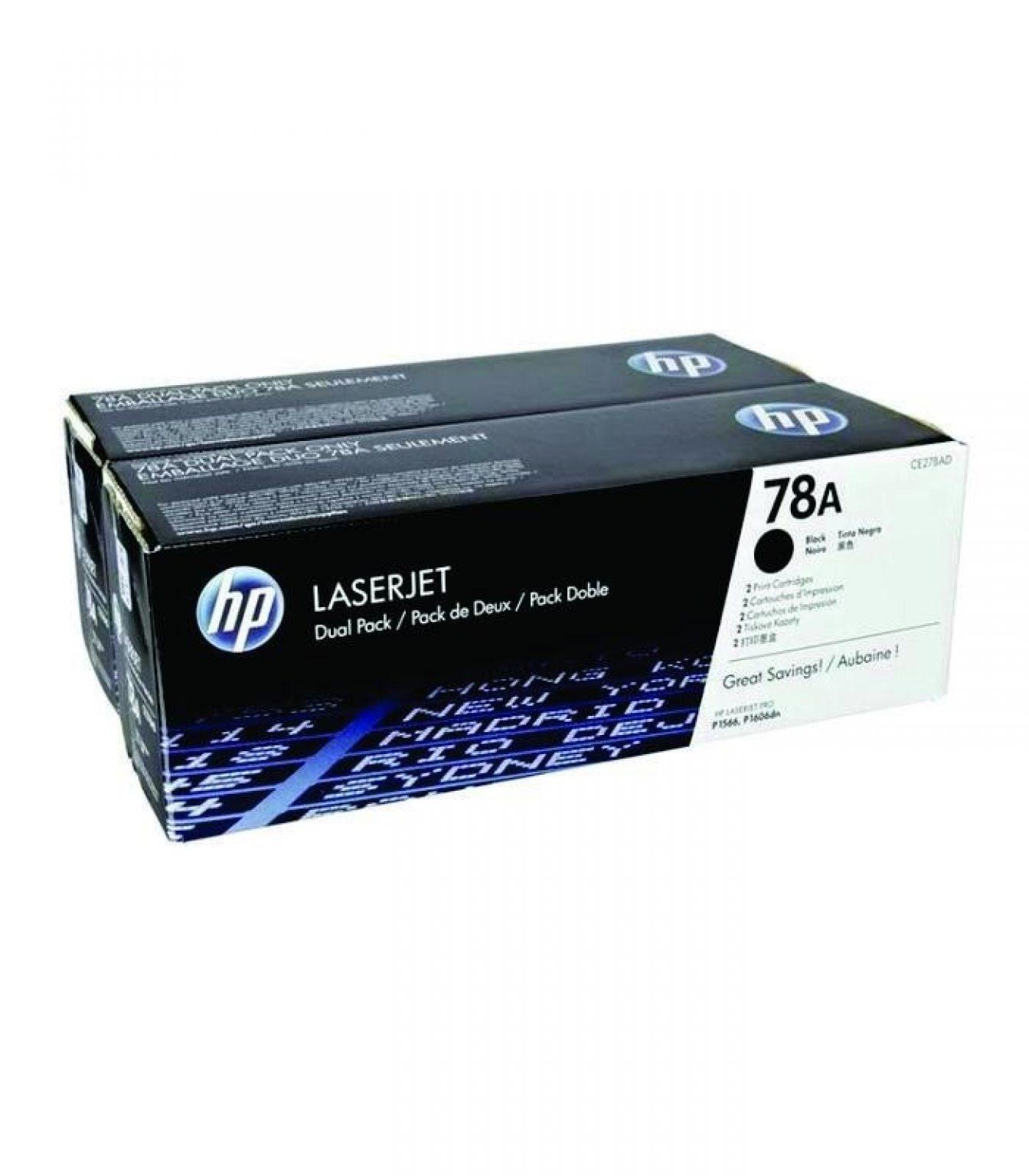 HP - 78A Blk Dual Pack LJ Toner Cartridge [CE278AD]
