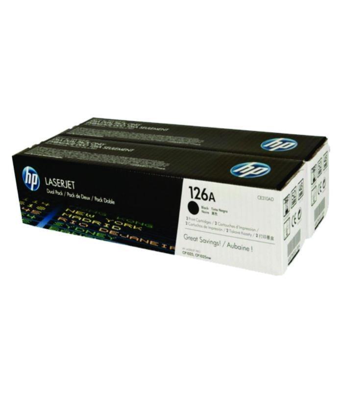 HP - 126A Black Dual Pk LJ Toner Cartridge [CE310AD]
