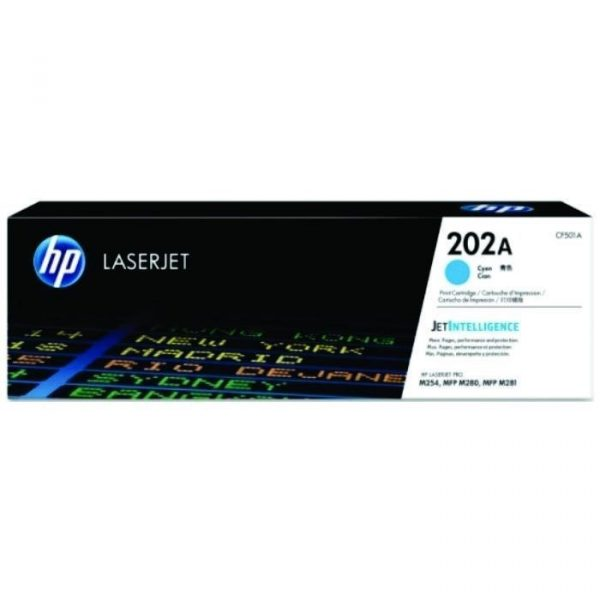 HP - 202A Cyan LaserJet Toner Cartridge [CF501A]