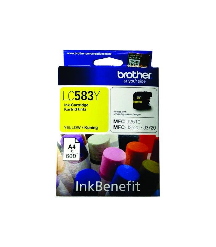 BROTHER - Yellow Ink Cartridge LC-583Y