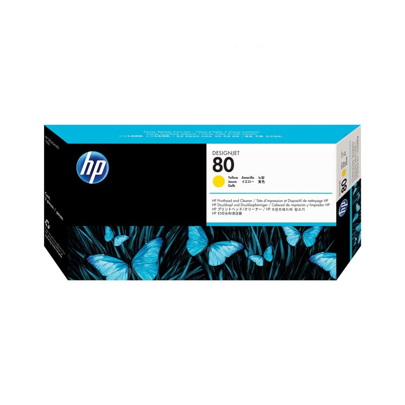 HP - No 80 Yellow Printhead [C4823A]