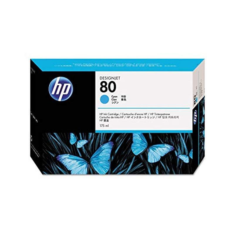 HP - No 80 Cyan Ink Cartridge, 175ml [C4872A]
