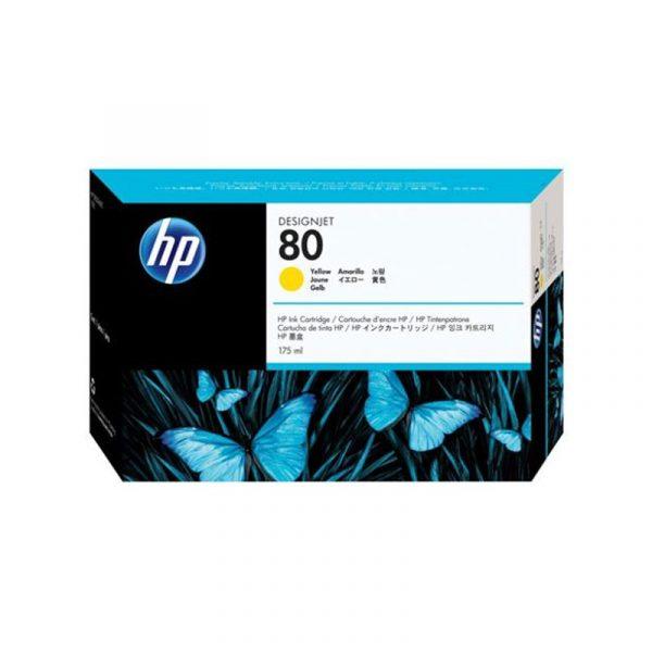 HP - No 80 Yellow Ink Cartridge,175ml [C4873A]