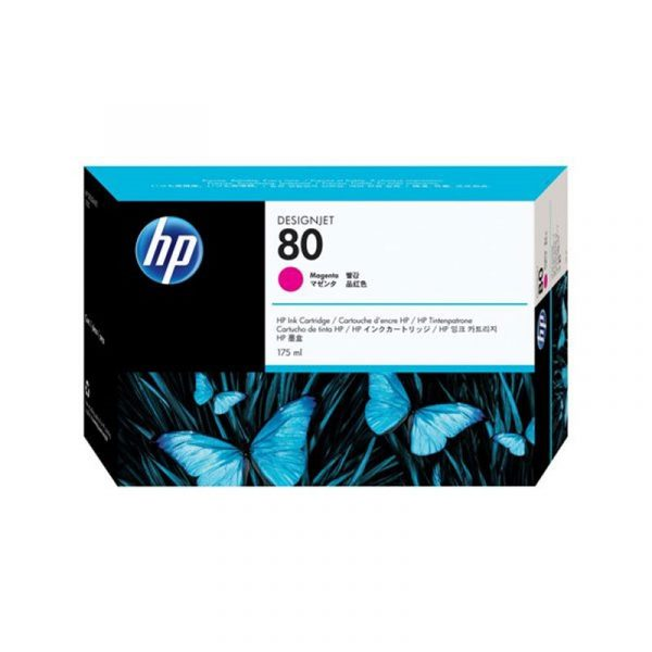 HP - No 80 Magenta Ink Cartridge,175ml [C4874A]