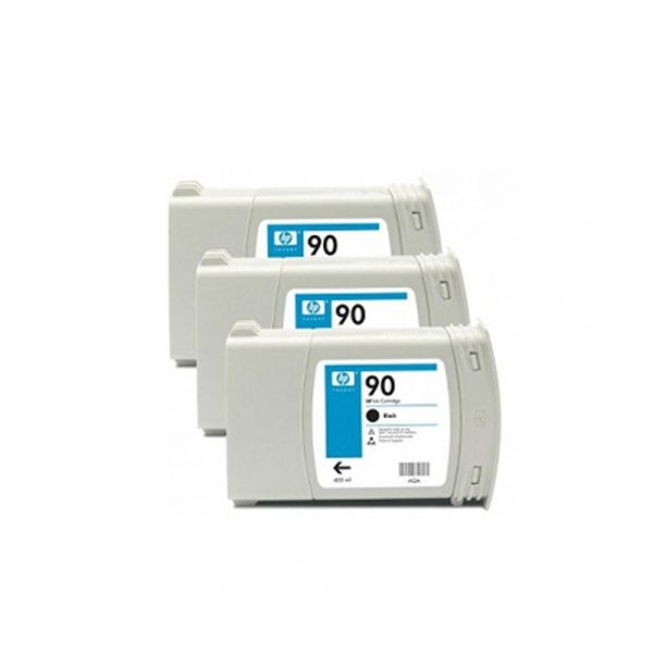 HP - 90 Black 3 Ink Cartridge Multi Pack [C5082A]