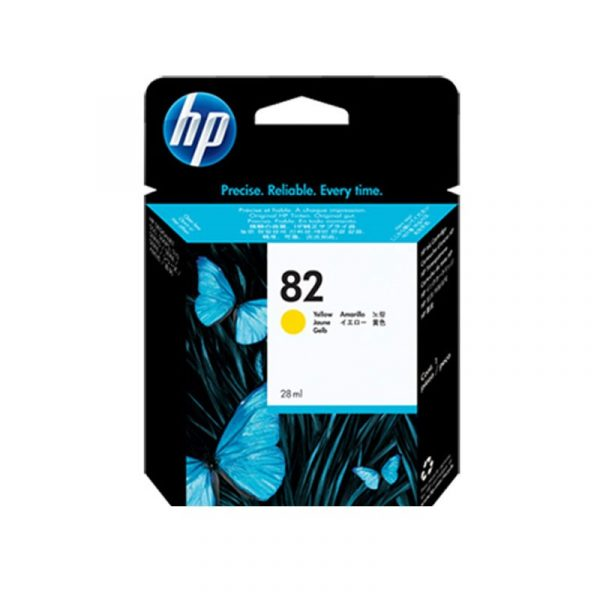 HP - 82 Yellow Ink Cartridge [CH568A]