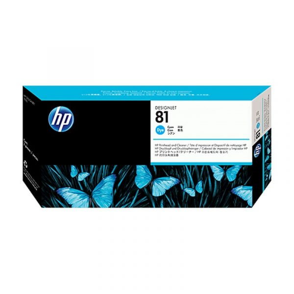 HP - 81 Cyan Dye Printhead and Cleaner [C4951A]