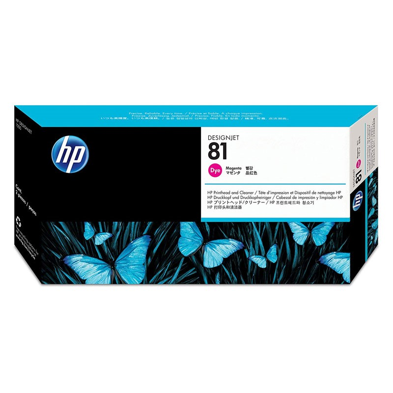 HP - 81 Magenta Dye Printhead and Cleaner [C4952A]