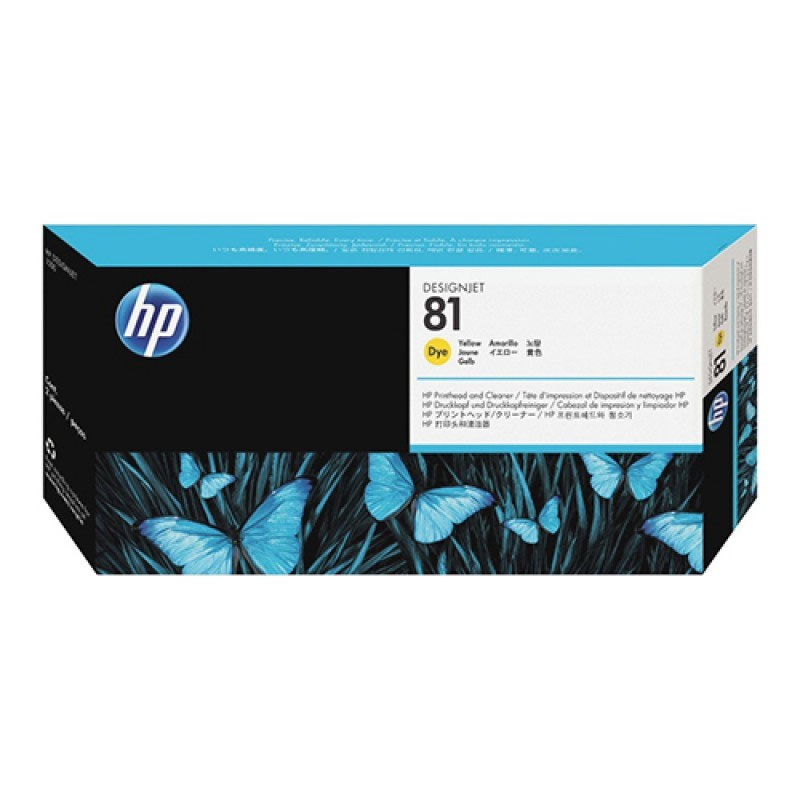 HP - 81 Yellow Dye Printhead and Cleaner [C4953A]