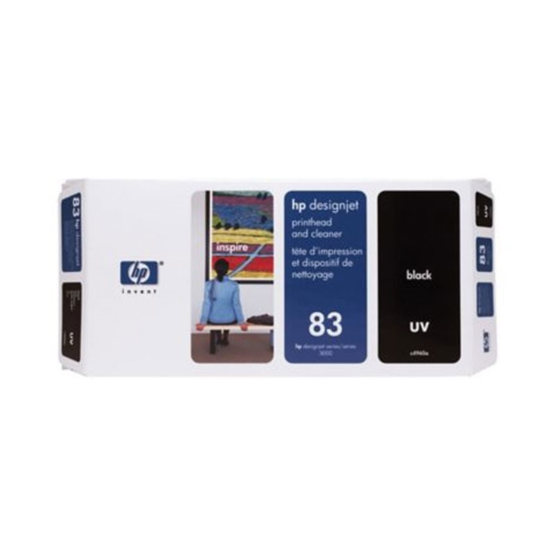 HP - No 83 UV Black Printhead and Cleaner [C4960A]