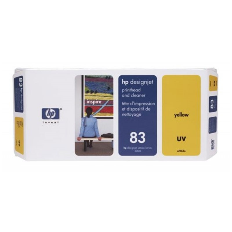 HP - No 83 UV Yellow PH and Cleaner [C4963A]