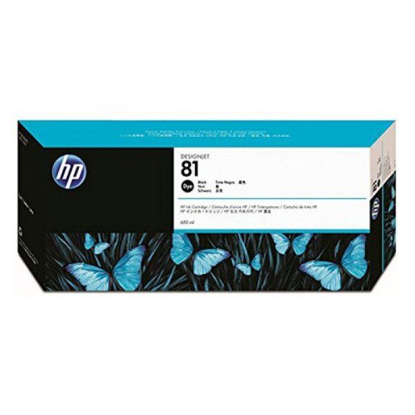 HP - 81 Black Dye Ink Cartridge [C4930A]