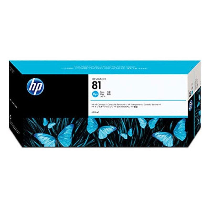 HP - 81 Cyan Dye Ink Cartridge [C4931A]