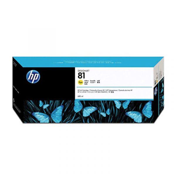 HP - 81 Yellow Dye Ink Cartridge [C4933A]