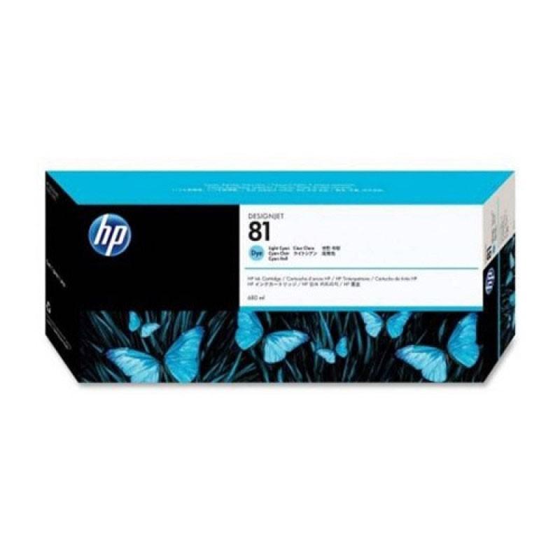 HP - 81 Lt Cyan Dye Ink Cartridge [C4934A]