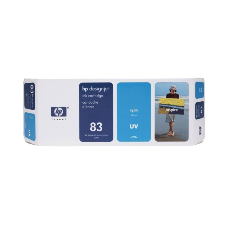 HP - No 83 UV Cyan Ink Cartridge [C4941A]