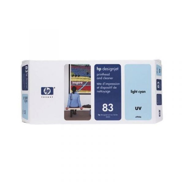 HP - No 83 UV Lt Cyan Ink Cartridge [C4944A]
