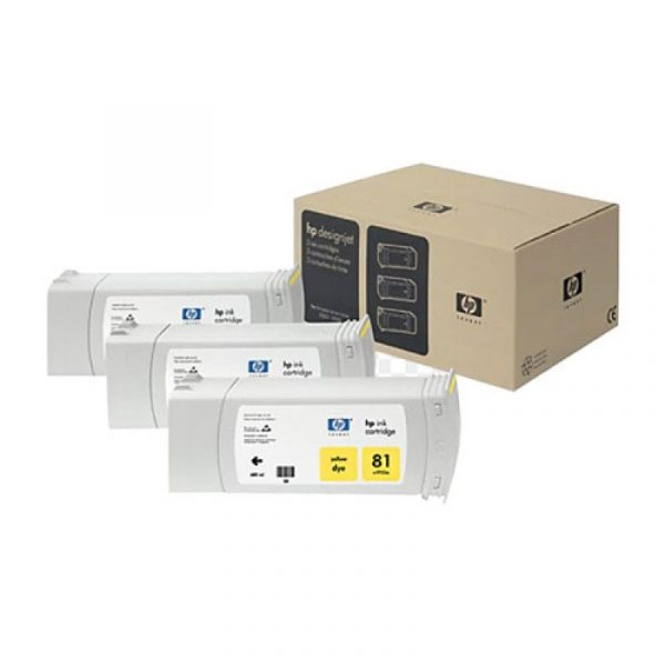 HP - 81 Yellow Dye,3 Ink Multi Pack [C5069A]