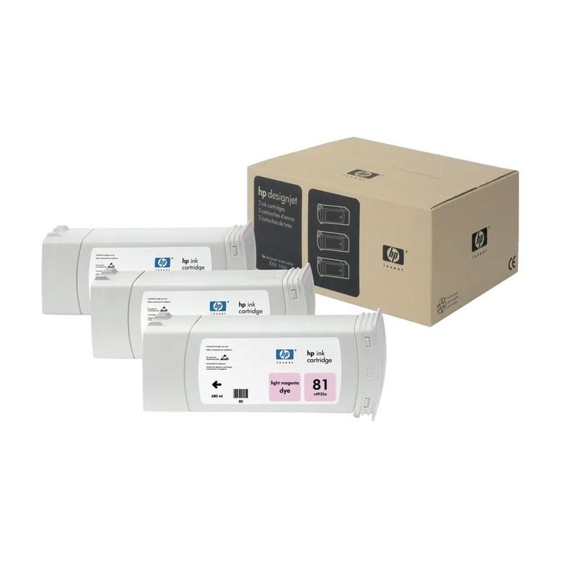 HP - 81 Lt Magenta Dye, 3 Ink Multi Pack [C5071A]