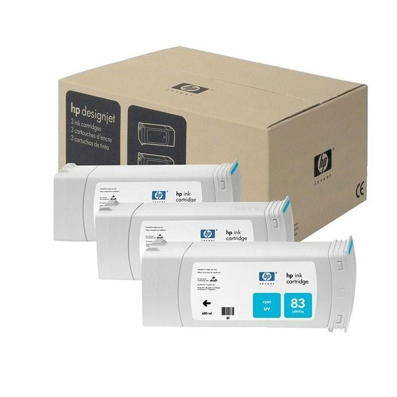 HP - 83 Cyan UV, 3 Ink Multi Pack [C5073A]