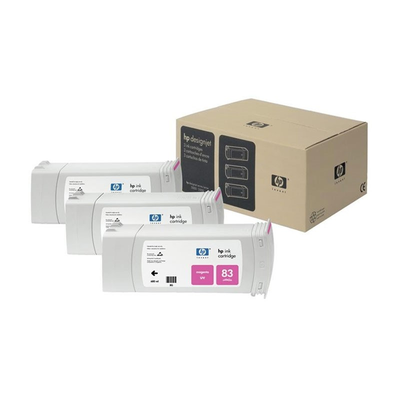 HP - 83 Magenta UV, 3 Ink Multi Pack [C5074A]