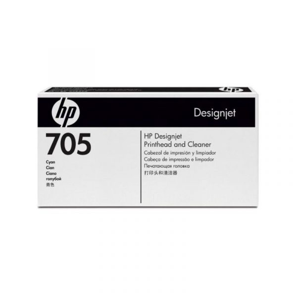 HP - Designjet 705 Cyn Printhead & Cleaner [CD954A]