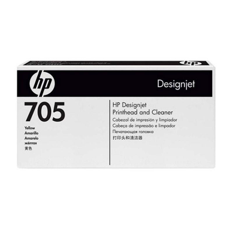 HP - Designjet 705 Yellow Prnthd & Cleaner [CD956A]