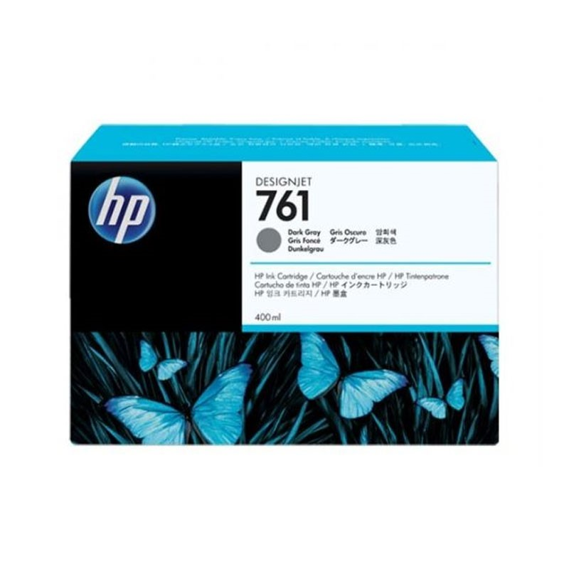 HP - 761 400ml Dark Gray Ink Cartridge [CM996A]