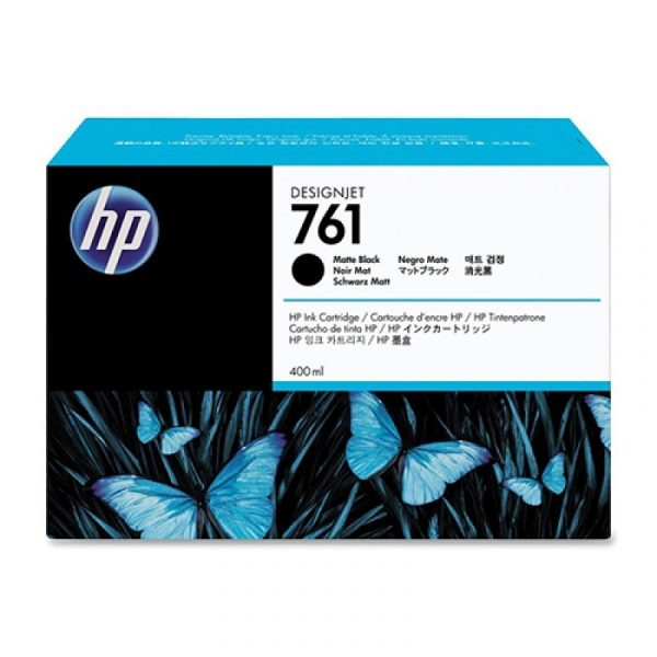 HP - 761 400ml Matte Black Ink Cartridge [CM991A]