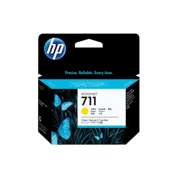 HP - 711 3-Pack 29-ml Yellow Ink Cartridge [CZ136A]