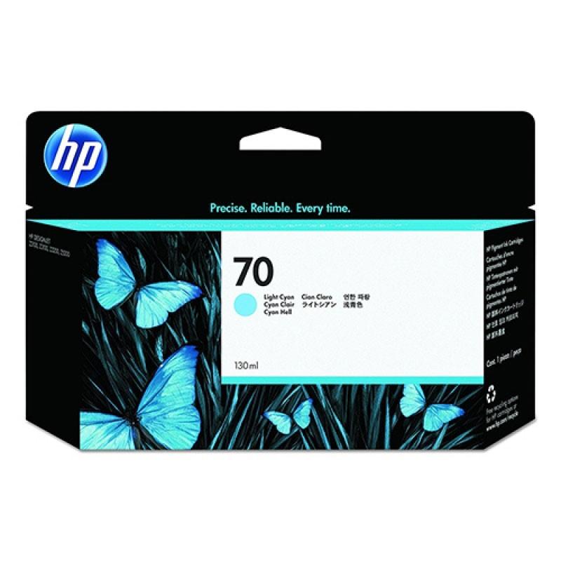 HP - 70 Light Cyan 130 ml Ink Cartridge [C9390A]
